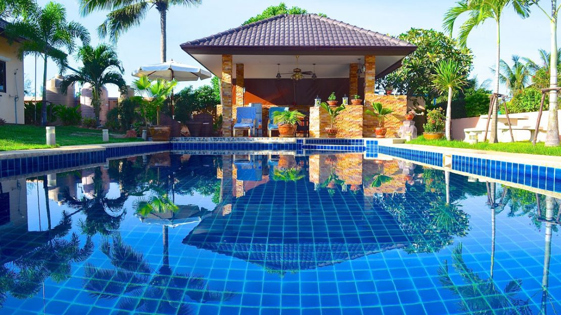 Tropical pool villa for sale in Pranburi pool and BQQ area