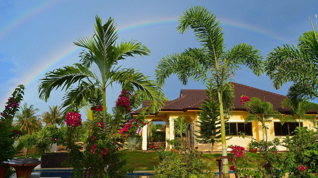 ndscape at Tropical pool villa for sale in Pranburi