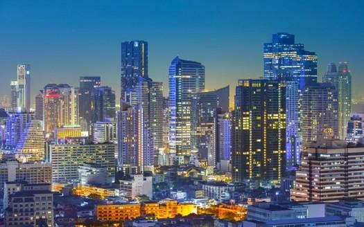 Bangkok Thailand view at night
