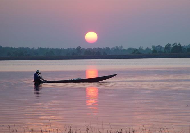 Villager fishing in Thailand