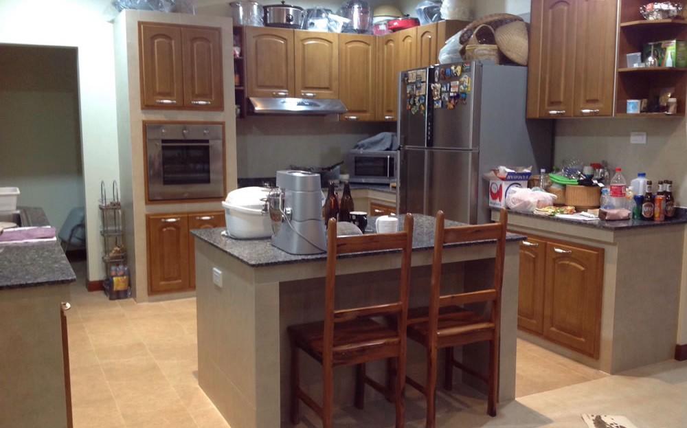 Modern kitchen in Pranburi resort home for sale