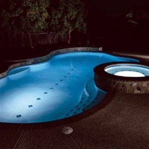 Pool lighted view