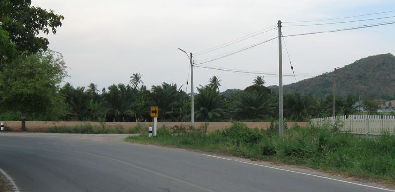 Pranburi Commercial Land for Sale on Main Road to Paknampran Beach