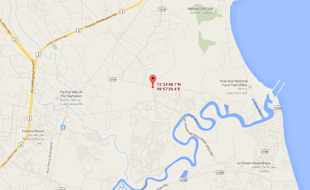 Pranburi commercial land for sale - Map to commercial business land for sale in Hua Hin