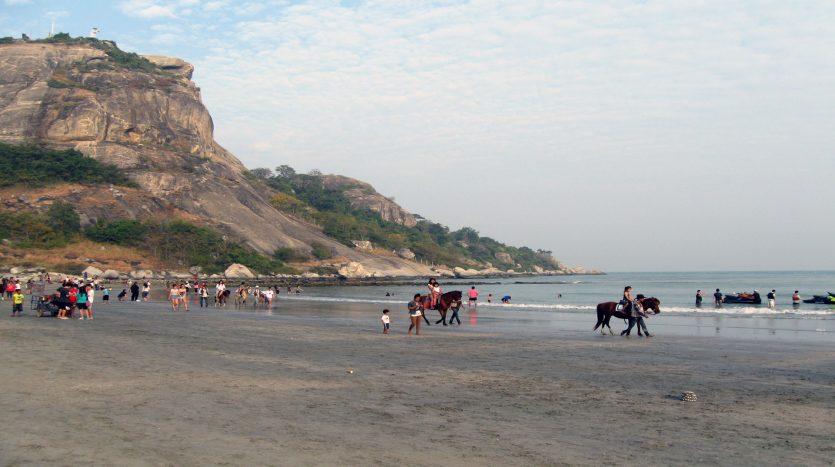 Khao Takiab Beach with horse back riding