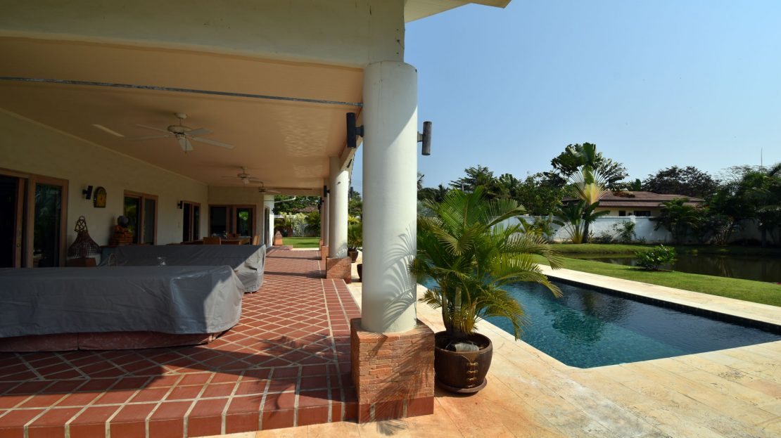 Terrace and Pool - Bali Pool Villa Sale Khao Kalok